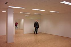 Der noch leere Gemeinderaum in Neusiedl/See