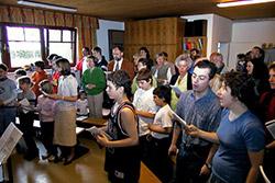 Gottesdienst im Haus der Familie Mökesch