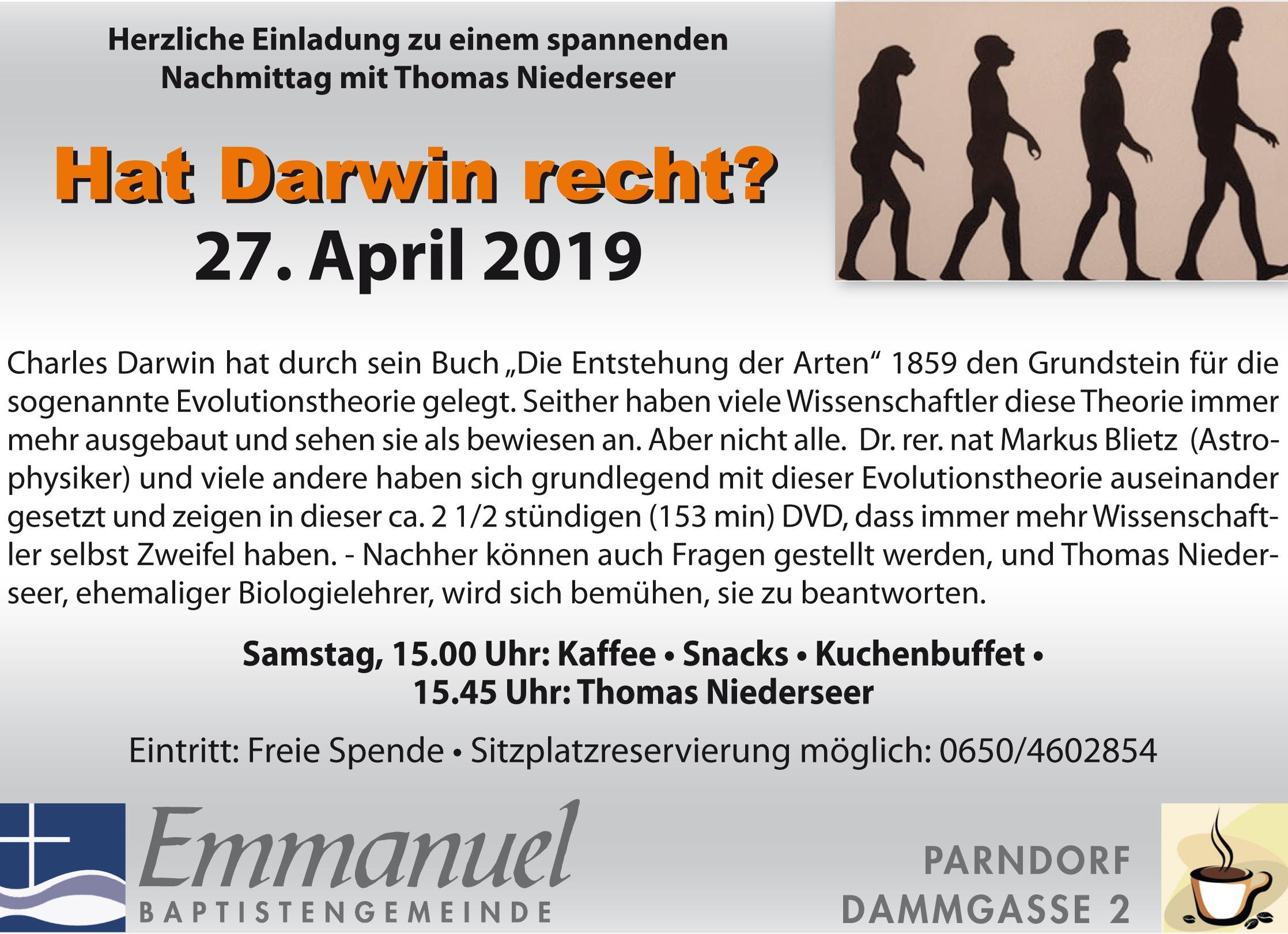 Hat Darwin Recht?