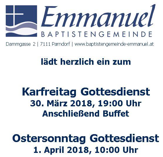 Gottesdienste zu Ostern 2018