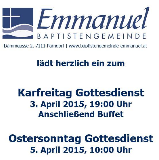 Gottesdienste zu Ostern 2015