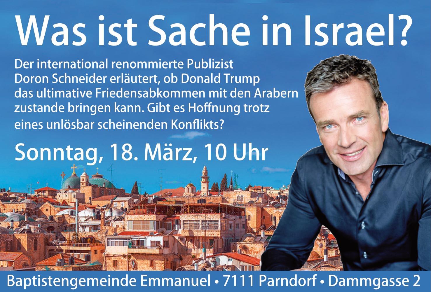 DORON SCHNEIDER - Was ist Sache in Israel?